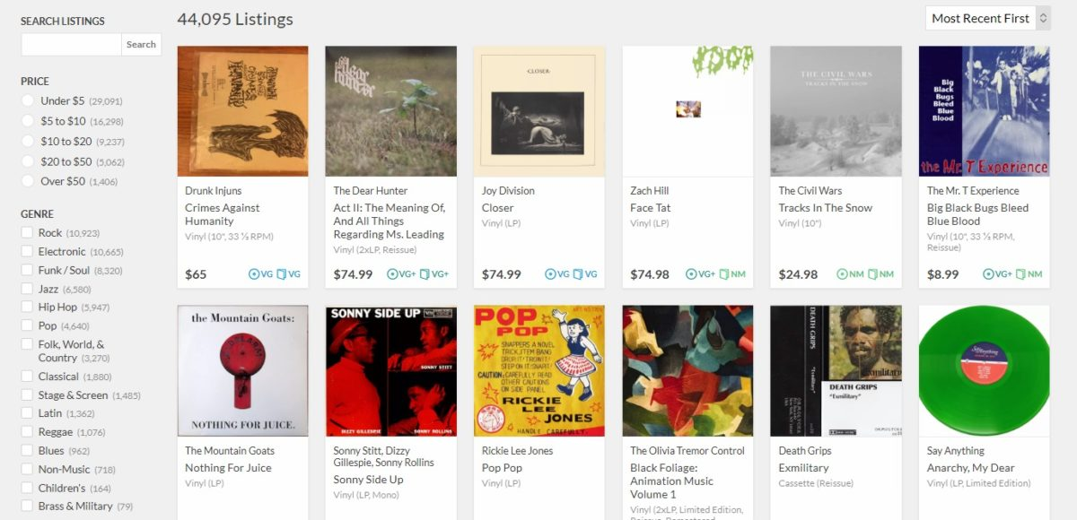 Reverb запускает альтернативу Discogs, площадку для продажи виниловых пластинок Reverb LP 1
