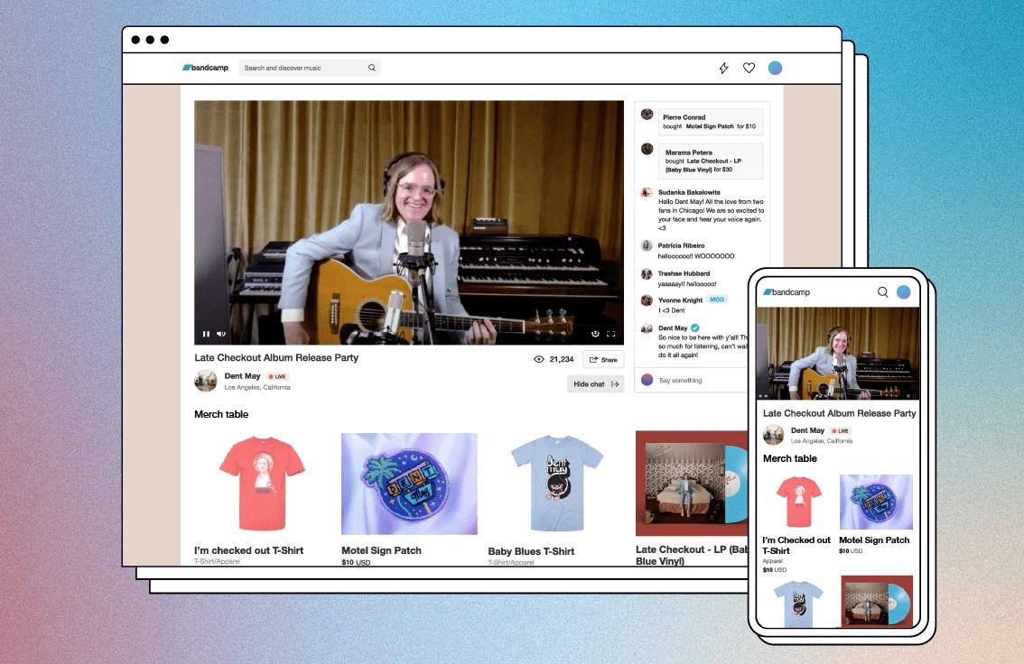 Состоялся запуск сервиса для видеостриминга Bandcamp Live 1